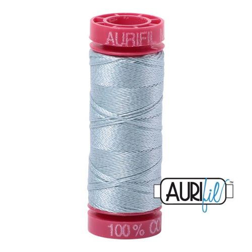 Aurifil Cotton 12wt, 2847 Bright Grey Blue