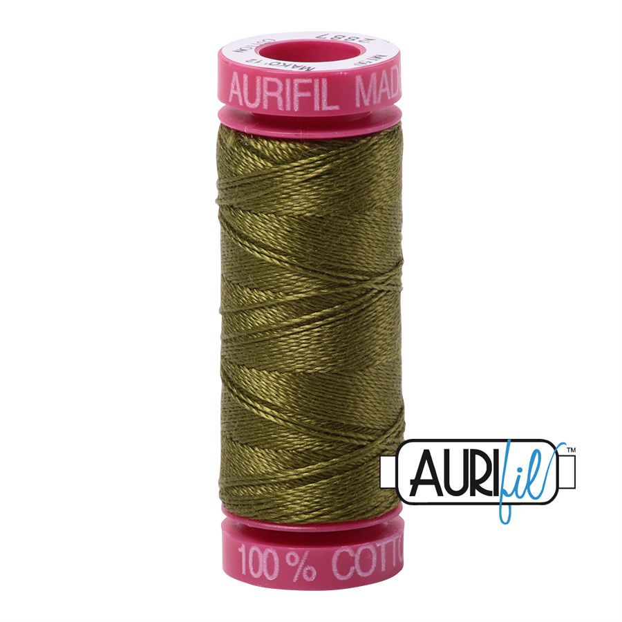 Aurifil Cotton 12wt, 2887 Very Dark Olive