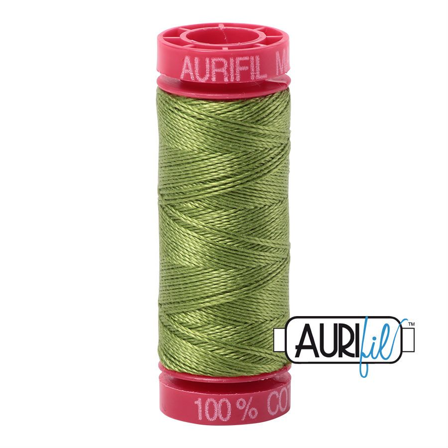 Aurifil Cotton 12wt, 2888 Fern Green