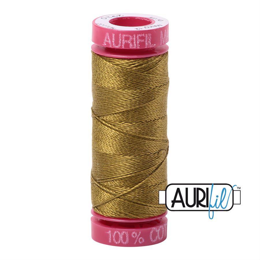 Aurifil Cotton 12wt, 2910 Medium Olive