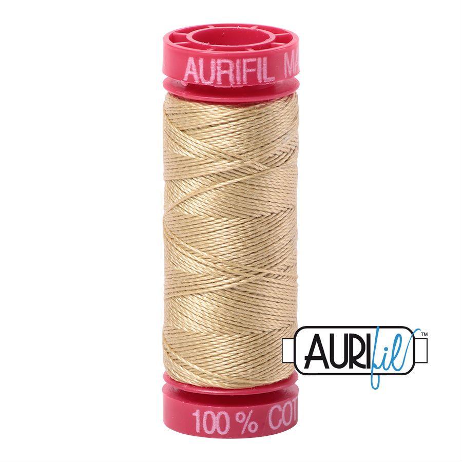 Aurifil Cotton 12wt, 2915 Very Light Brass