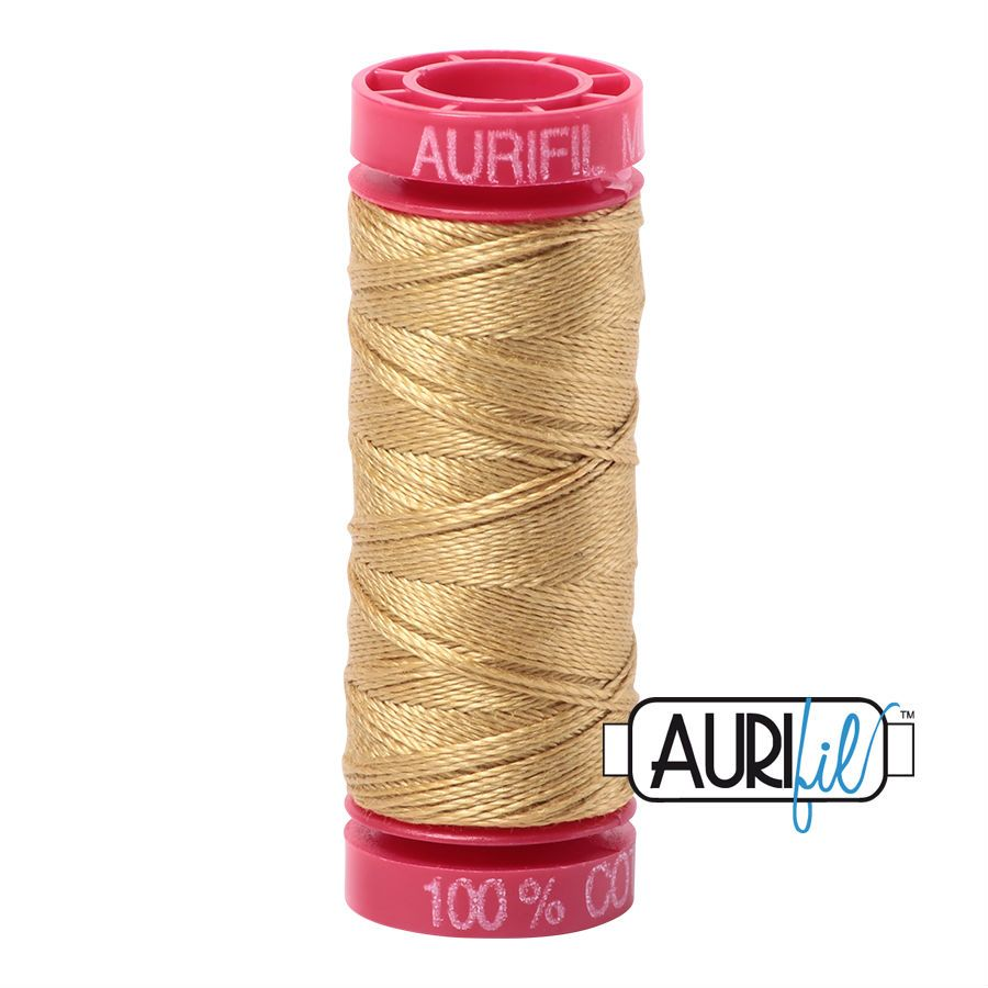 Aurifil Cotton 12wt, 2920 Light Brass