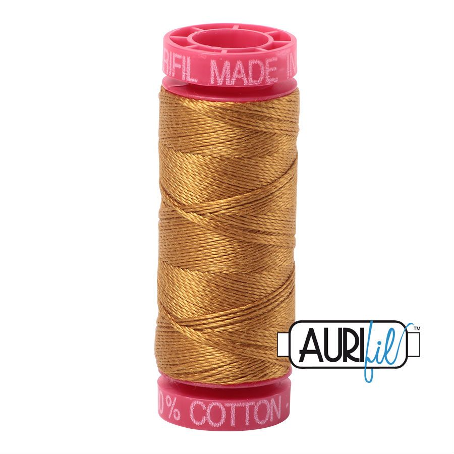 Aurifil Cotton 12wt, 2975 Brass