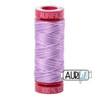 Aurifil Cotton 12wt, 3840 French Lilac (Variegated)