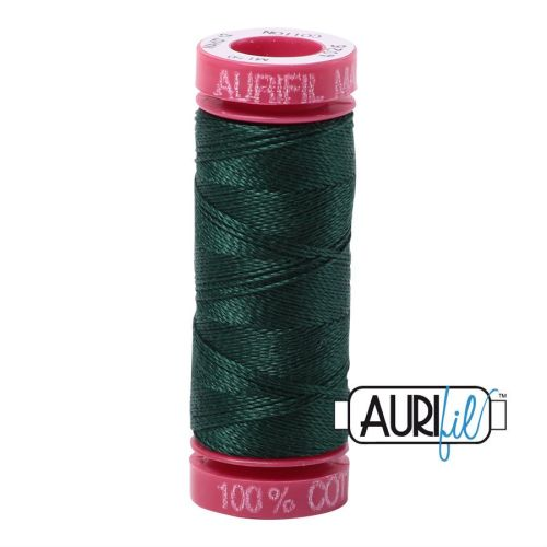 Aurifil Cotton 12wt, 4026 Forest Green