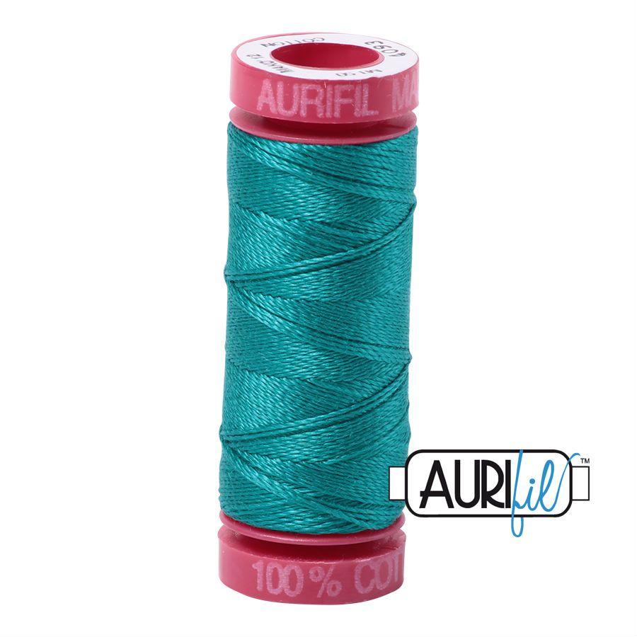 Aurifil Cotton 12wt, 4093 Jade