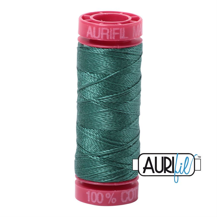 Aurifil Cotton 12wt, 4129 Turf Green