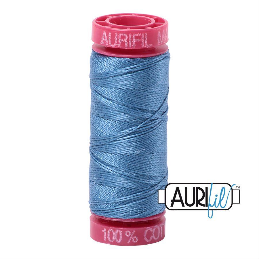 Aurifil Cotton 12wt, 4140 Wedgewood