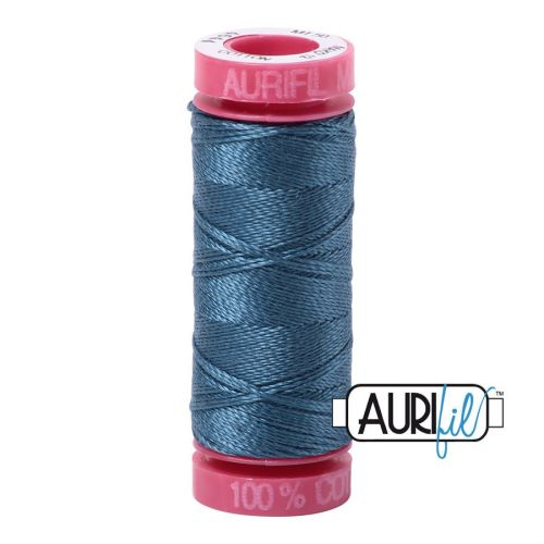 Aurifil Cotton 12wt, 4644 Smoke Blue