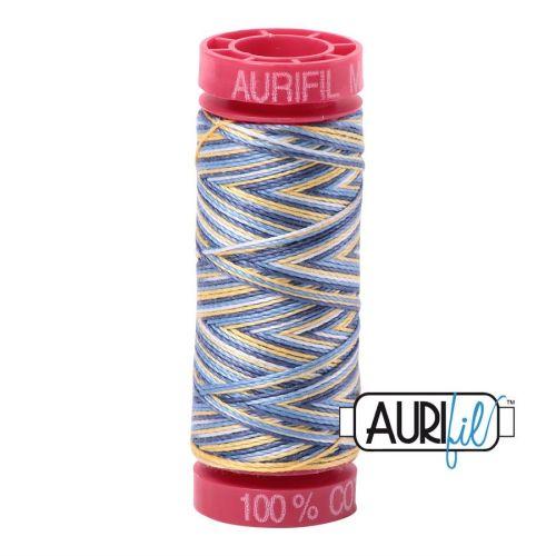 Aurifil Cotton 12wt, 4649 Lemon Blueberry