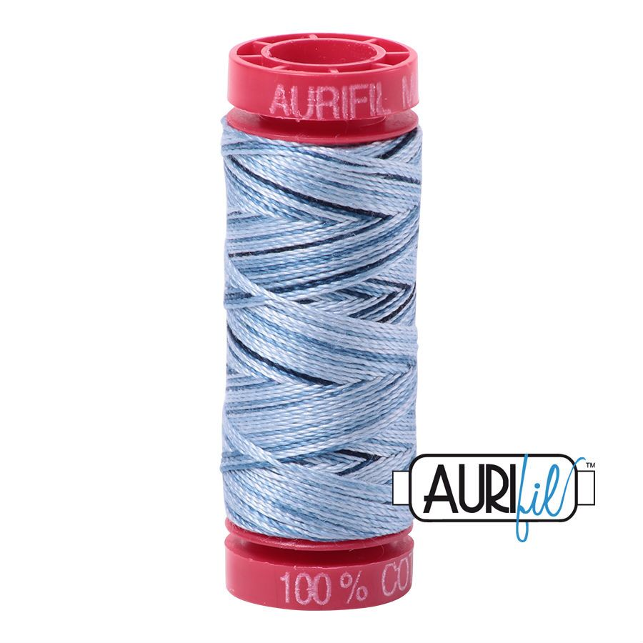 Aurifil Cotton 12wt, 4669 Stonewash Blues