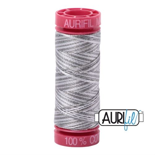 Aurifil Cotton 12wt, 4670 Silver Fox