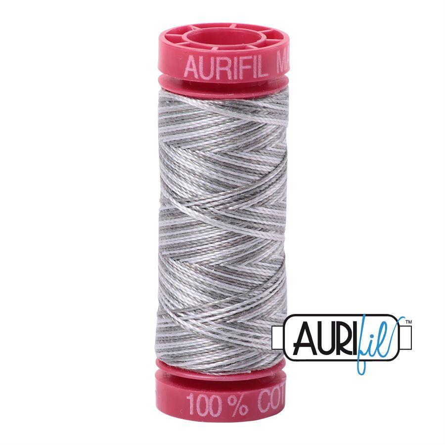 Aurifil Cotton 12wt, 4670 Silver Fox