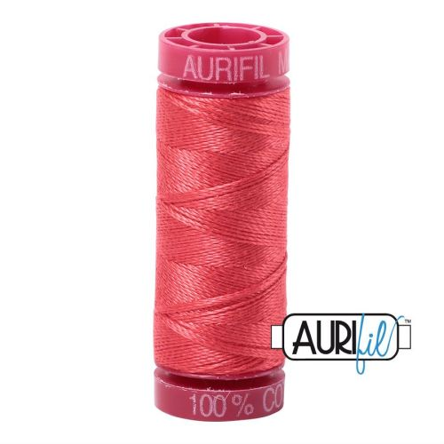 Aurifil Cotton 12wt, 5002 Medium Red