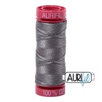 Aurifil Cotton 12wt, 5004 Grey Smoke