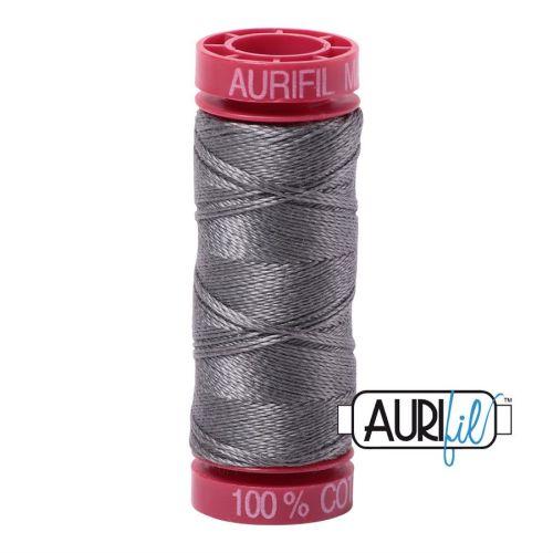 Aurifil Cotton 12wt, 5004 Grey Smoke
