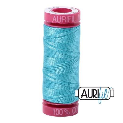 Aurifil Cotton 12wt, 5005 Bright Turquoise