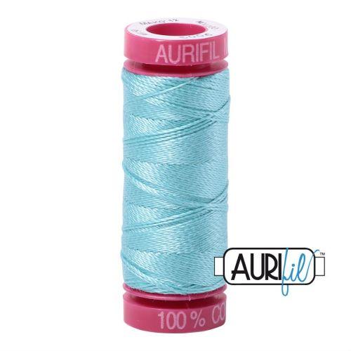 Aurifil Cotton 12wt, 5006 Light Turquoise