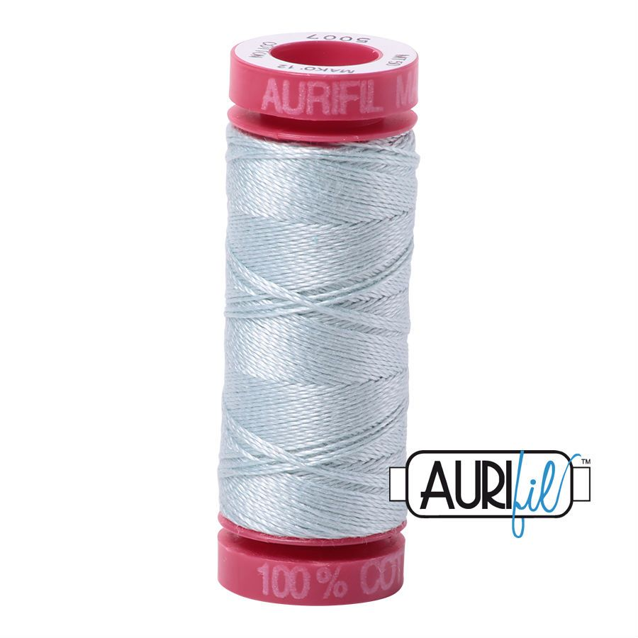 Aurifil Cotton 12wt, 5007 Light Grey Blue