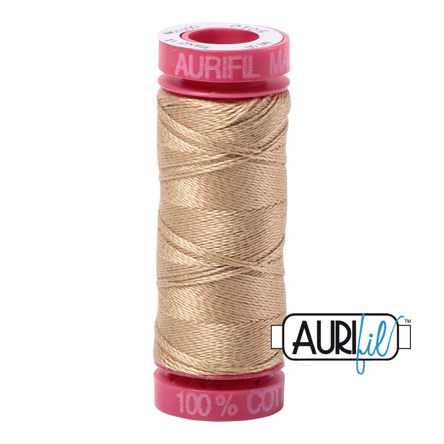 Aurifil Cotton 12wt, 5010 Blond Beige