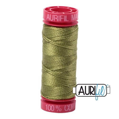 Aurifil Cotton 12wt, 5016 Olive Green