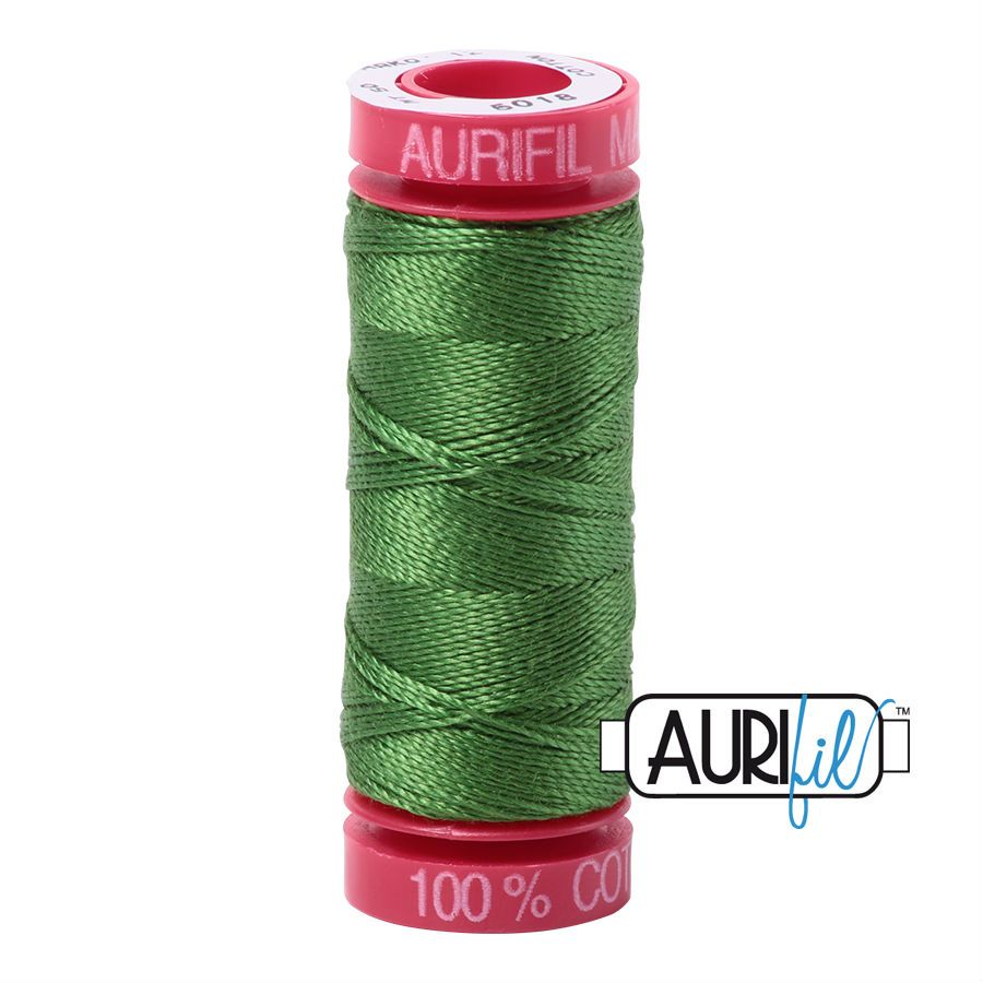 Aurifil Cotton 12wt, 5018 Dark Grass Green