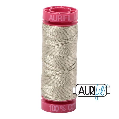 Aurifil Cotton 12wt, 5020 Light Military Green