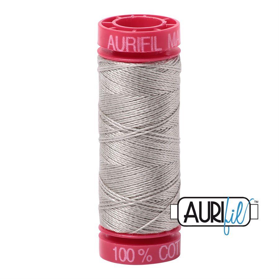 Aurifil Cotton 12wt, 5021 Light Grey