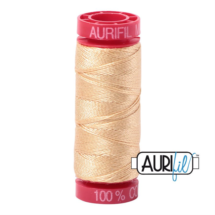 Aurifil Cotton 12wt, 6001 Light Caramel