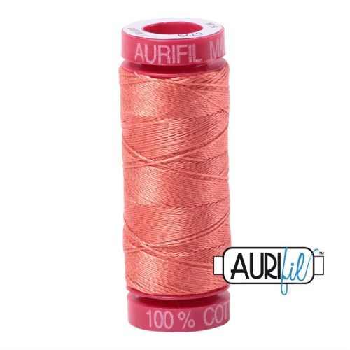 Aurifil Cotton 12wt, 6729 Tangerine Dream