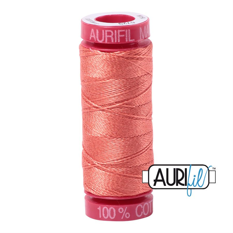 Aurifil Cotton 12wt, 6729 Tangerine Dream