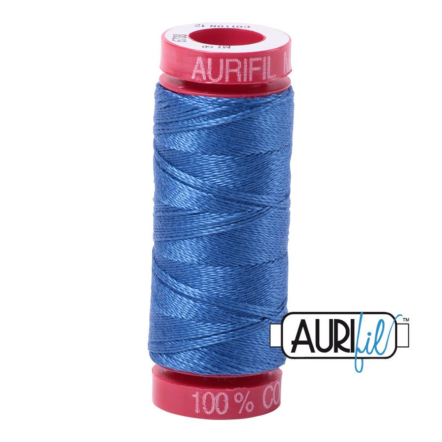 Aurifil Cotton 12wt, 6738 Peacock Blue