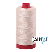Aurifil Cotton 12wt, 2000 Light Sand