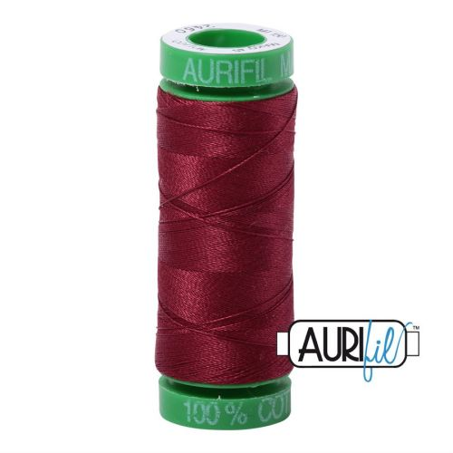 Aurifil Cotton 40wt, 2460 Dark Carmine Red