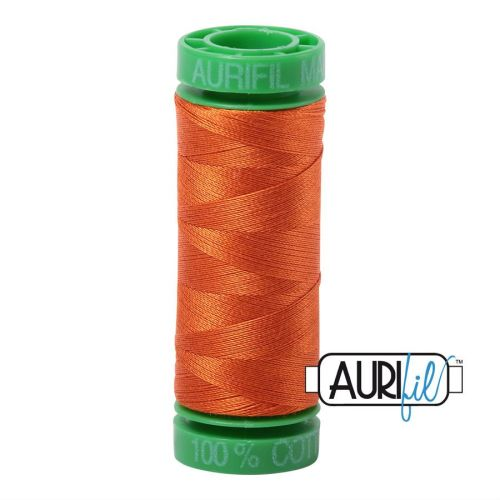 Aurifil Cotton 40wt, 2235 Orange