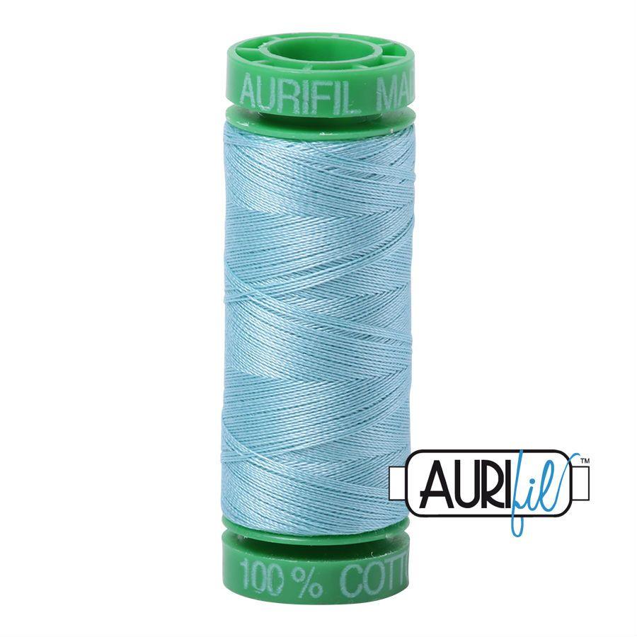 Aurifil Cotton 40wt, 2805 Light Grey Turquoise