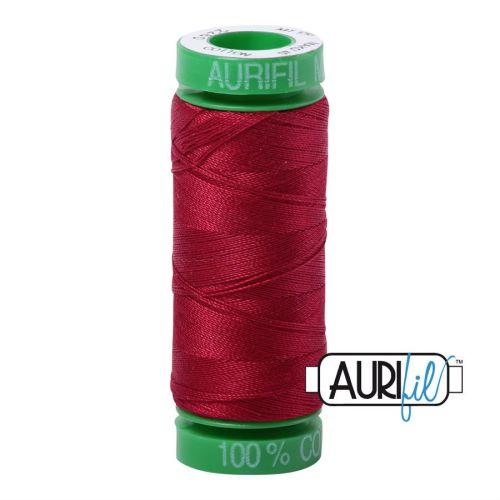 Aurifil Cotton 40wt, 2260 Red Wine