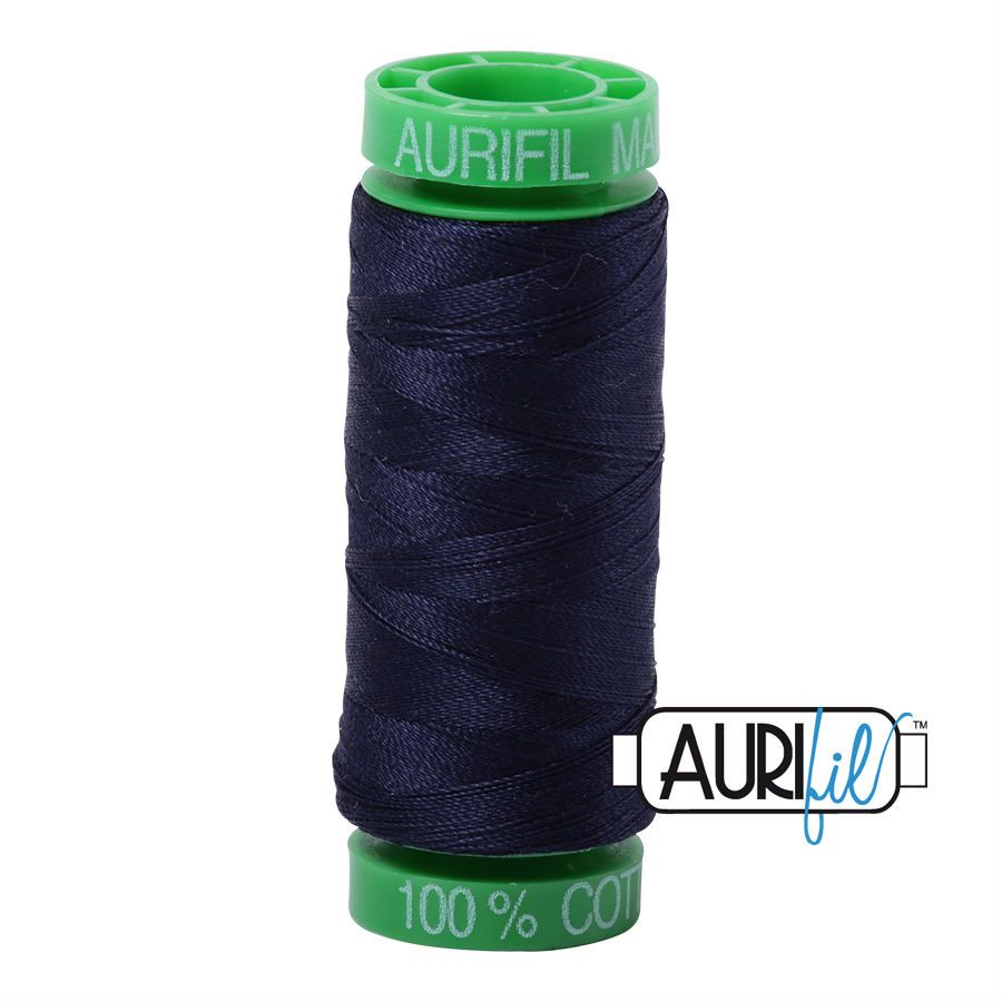 Aurifil Cotton 40wt, 2785 Very Dark Navy
