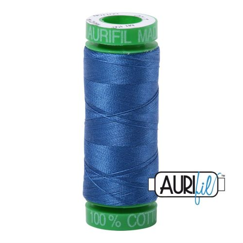 Aurifil Cotton 40wt, 2730 Delft Blue