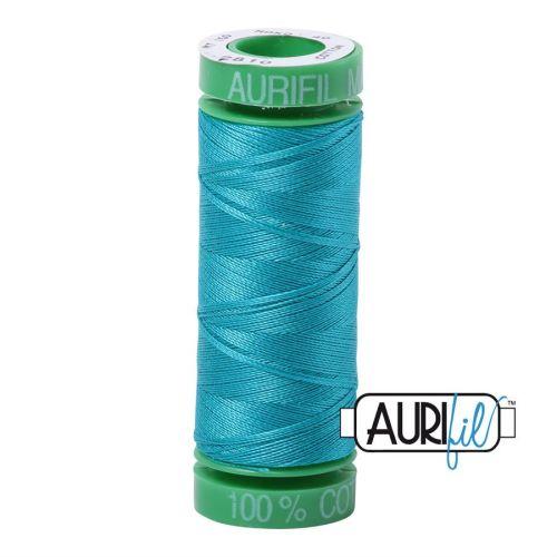 Aurifil Cotton 40wt, 2810 Turquoise