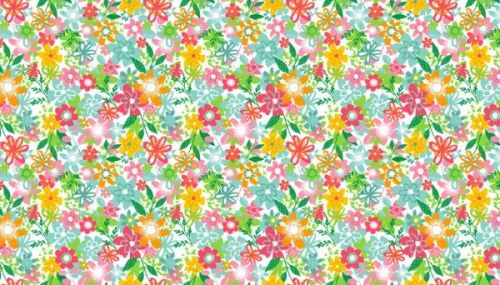 Makower - Fruity Floral - 1945/W White