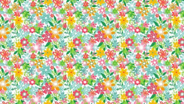 Makower - Fruity Floral - 1945/W White