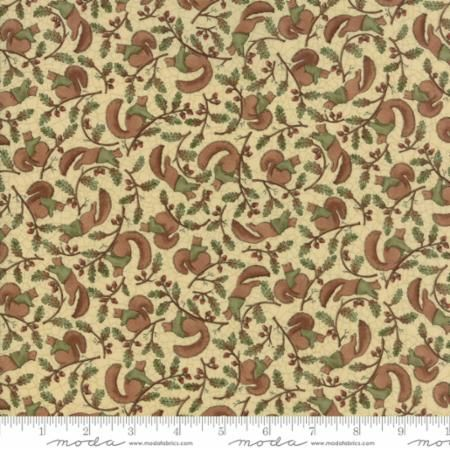 Moda - Oak Grove Lane - Ivory Squirrels - No. 7000-13 Natural