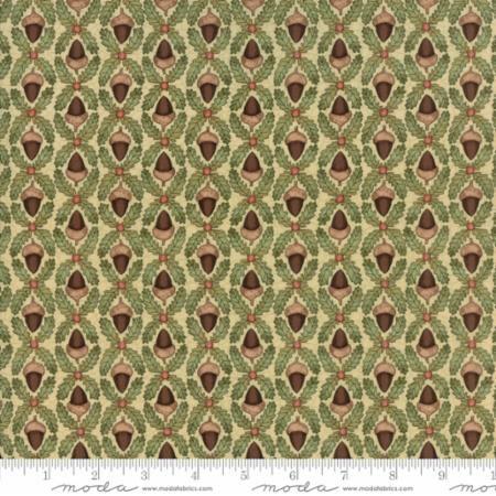 Moda - Oak Grove Lane - Ivory Acorns - No. 7003-13 Natural