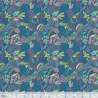 Blend Fabrics - Katy Tanis - Bwindi Forest - 124.104.05.1 Mountain Foliage Blue