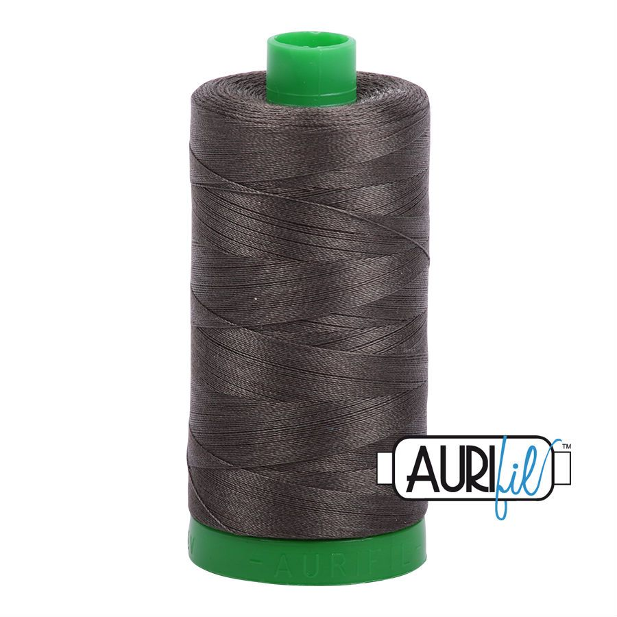 Aurifil Cotton 40wt, 5013 Asphalt