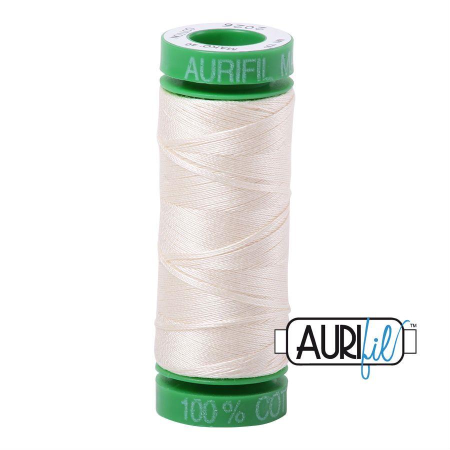 Aurifil Cotton 40wt, 2026 Chalk