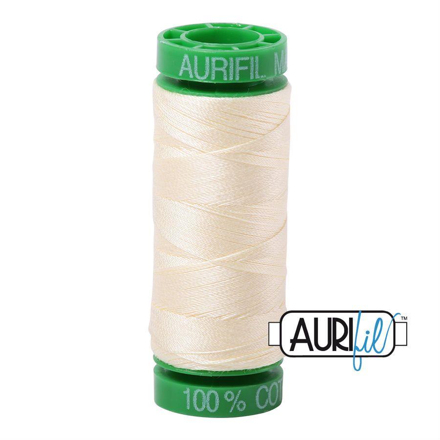 Aurifil Cotton 40wt, 2110 Light Lemon