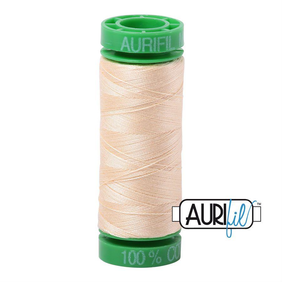Aurifil Cotton 40wt, 2123 Butter