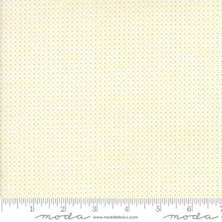 Moda - Essentially Yours - Mini Dot - No. 8655-100 (White, Grey and Yellow)